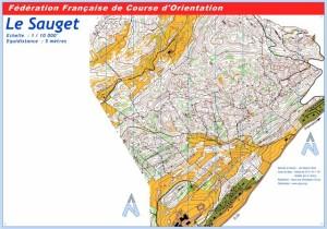 Cartes de course d'orientation Ojura : Lamoura Le Sauget