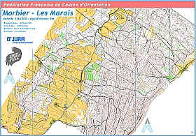Cartes de course d'orientation Ojura : Morbier LesMarais