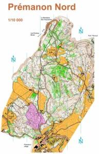 Cartes de course d'orientation Ojura : Premanon Nord