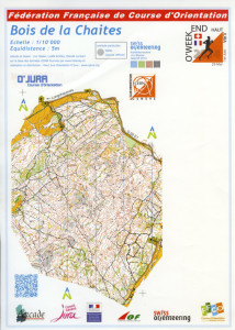 Cartes de course d'orientation Ojura : Bois de la Chaites