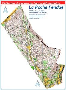 Cartes de course d'orientation Ojura : Morez la Roche Fendue