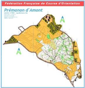 Cartes de course d'orientation Ojura : Premanon d'Amont