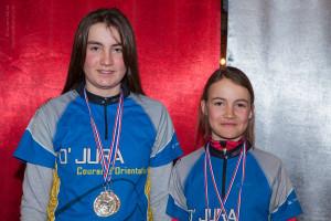 Ski orientation à Plaine Joux : Natalja et Alina Niggli, double médaillées des championnats de France 2015