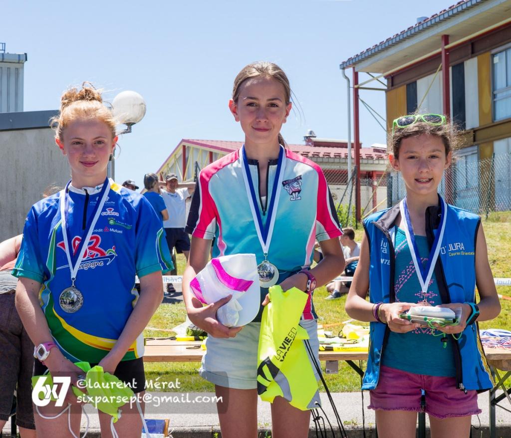Nationale nord-est à Gérardmer, 18 juin 2017 - podium Dames 12